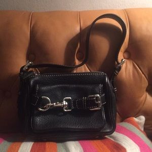 Michael by Michael Kors Small Leather Bag. Black